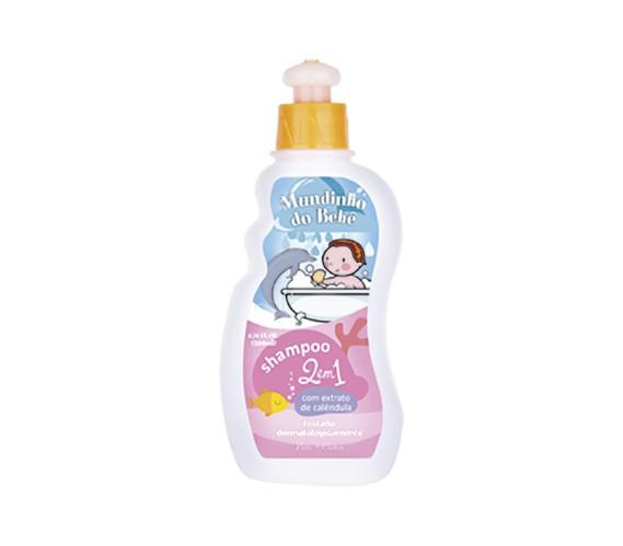 Shampoo 2 em 1 Mundinho do Bebê - 200ml