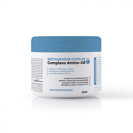 Restaurador Capilar Complexo Amino-Oil Uso Profissional 500g